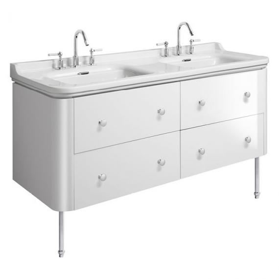Bauhaus Waldorf 1500mm White Gloss Four Drawer Vanity Unit and Double Basin