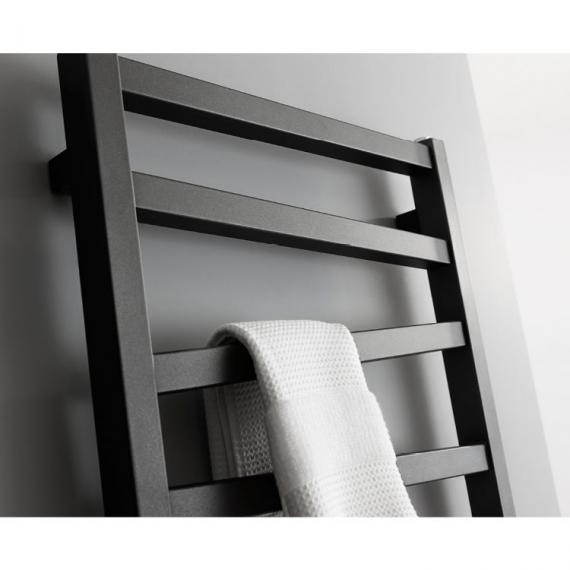Bauhaus Wedge 500 Metallic Black Matte Towel Rail