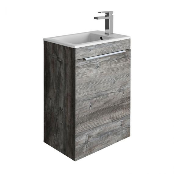 Bauhaus Zion Driftwood 500mm Wall Hung Unit with Basin