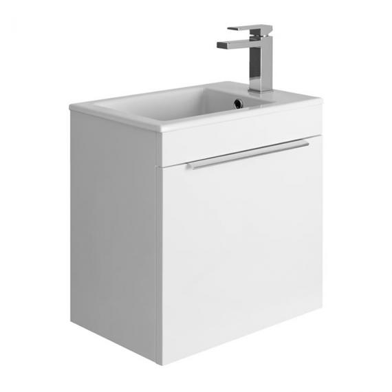 Bauhaus Zion White Gloss 500mm Wall Hung Drawer Unit with Basin