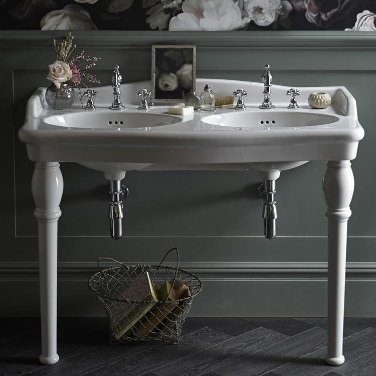 Heritage victoria double console basin legs Double sink washstand