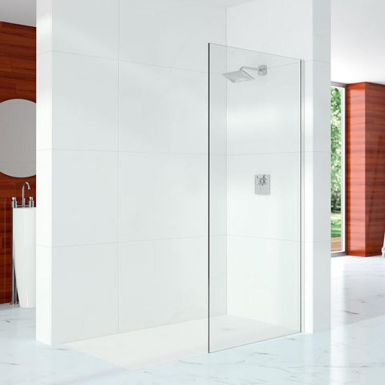Merlyn 10 series wetroom screen 10mm toughened glass for Wet room shower screen 400mm