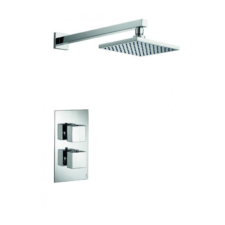 Pura Bloque2 Single Outlet Shower Valve with Fixed Shower Head - Image 1