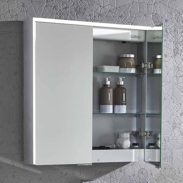 roper rhodes bathroom cabinets roper compose illuminated cabinet with bluetooth 25653