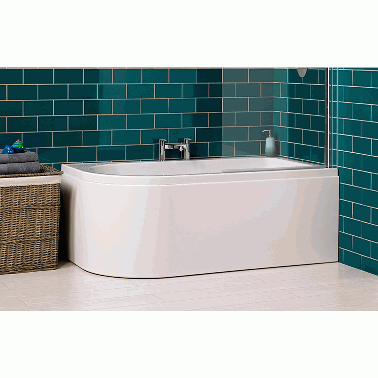Carron Delta 1550 x 850mm Shower Bath | Sanctuary Bathrooms