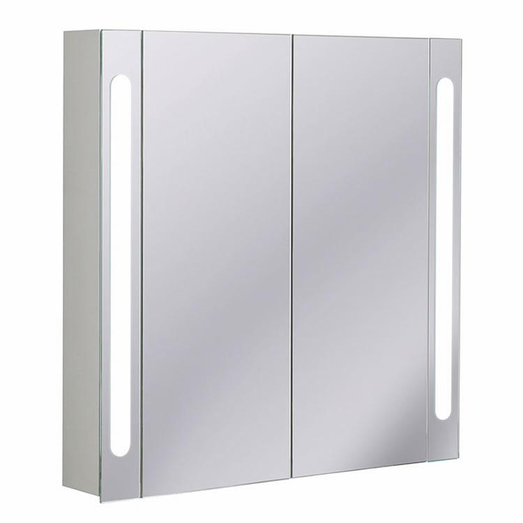 Bauhaus 800 aluminium mirrored bathroom cabinet cb8080al for Bathroom cabinet 800
