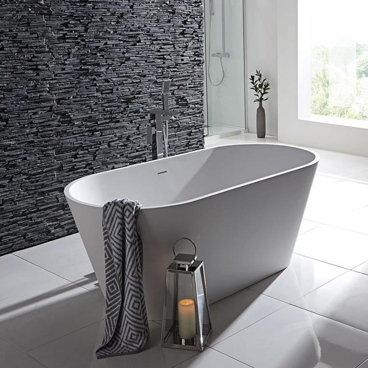Frontline Stone Freestanding 1700 x 800mm Double Ended Bath ...