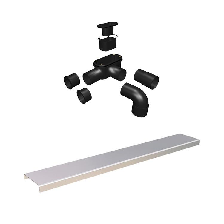 Photo of Abacus Elements 1400 x 900mm Level Access 30mm Shower Tray Kit with End Linear Drain  2