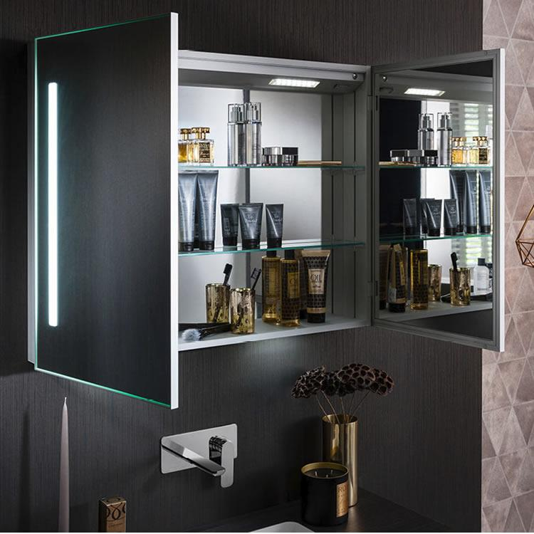 Crosswater Bauhaus Allure 900mm Led Illuminated Mirrored