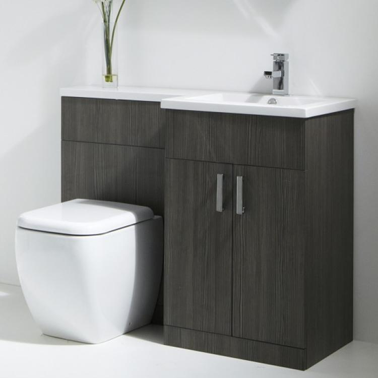 Grey Bathroom Furniture Uk: Aquatrend Petite Avola Grey Complete Furniture Pack
