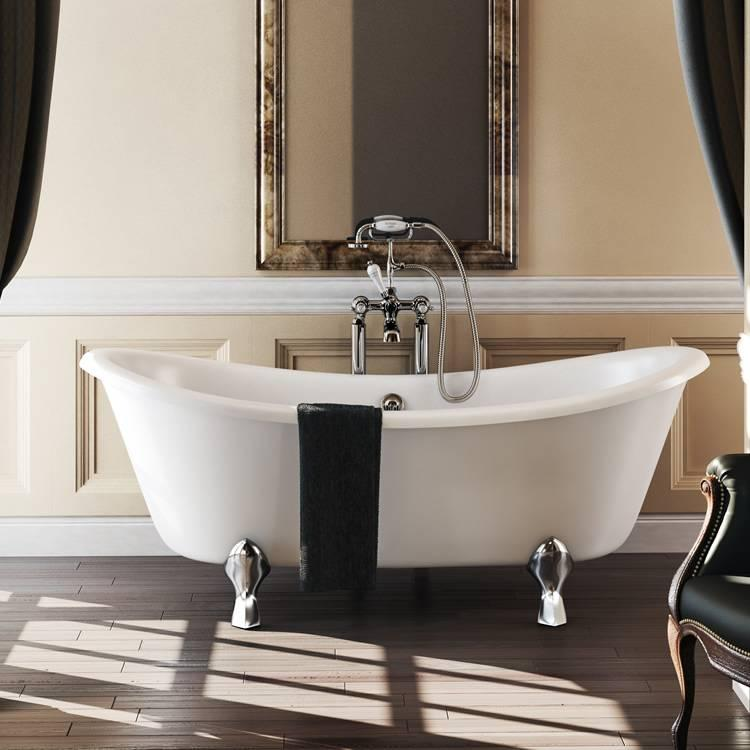 burlington bateau double ended bath freestanding bath sanctuary bathrooms. Black Bedroom Furniture Sets. Home Design Ideas