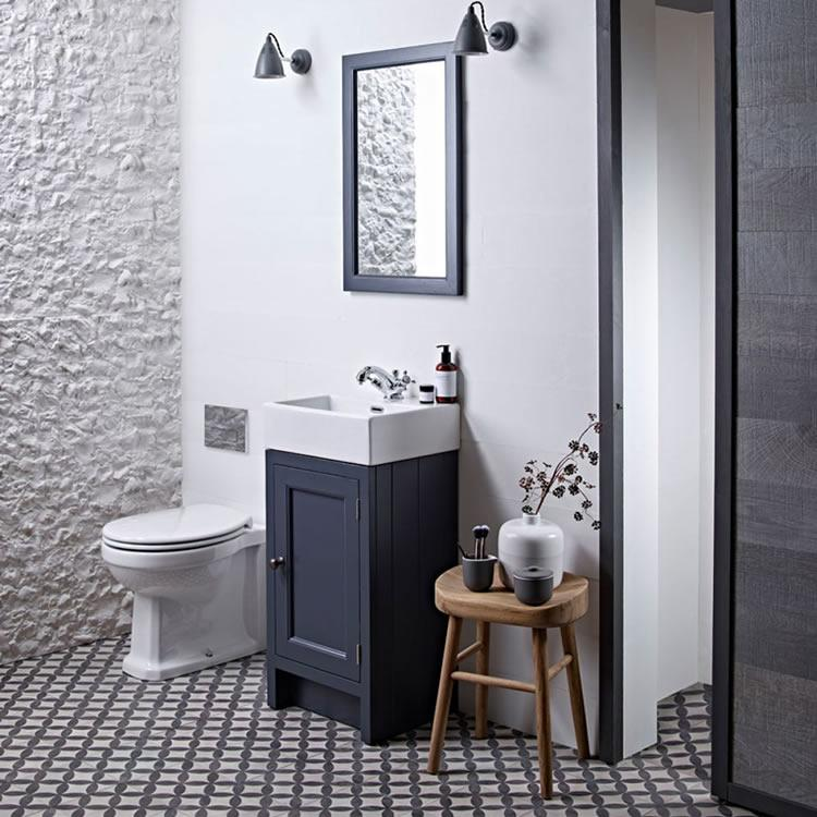 Roper Rhodes Hampton 400mm Slate Grey Cloakroom Unit   Basin. Small Bathroom Furniture   Sanctuary Bathrooms