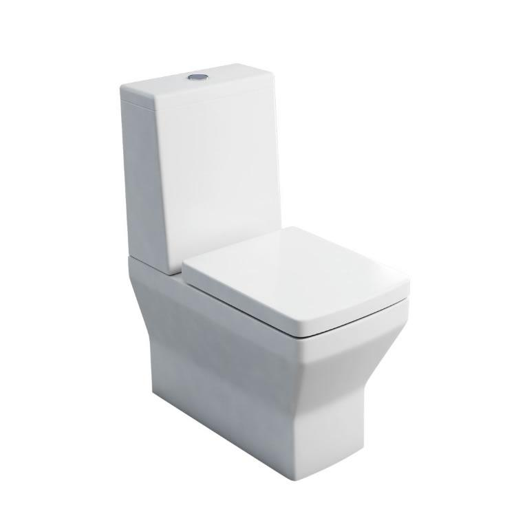 Britton Bathrooms Cube Close Coupled Toilet And Seat
