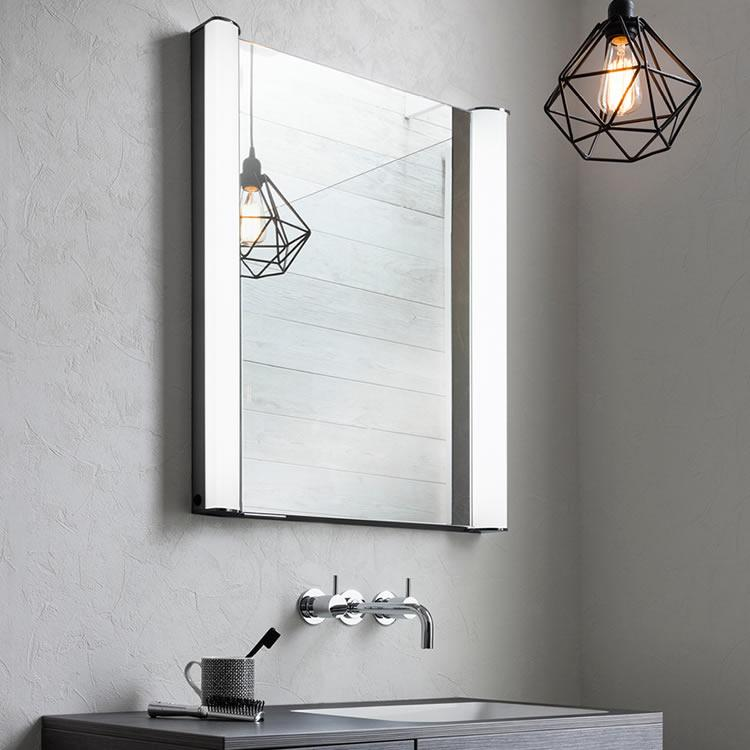 Photo of Bauhaus Duo 600mm LED Illuminated Recess Mirrored Cabinet : bathroom mirrored cabinets with lights - Cheerinfomania.Com