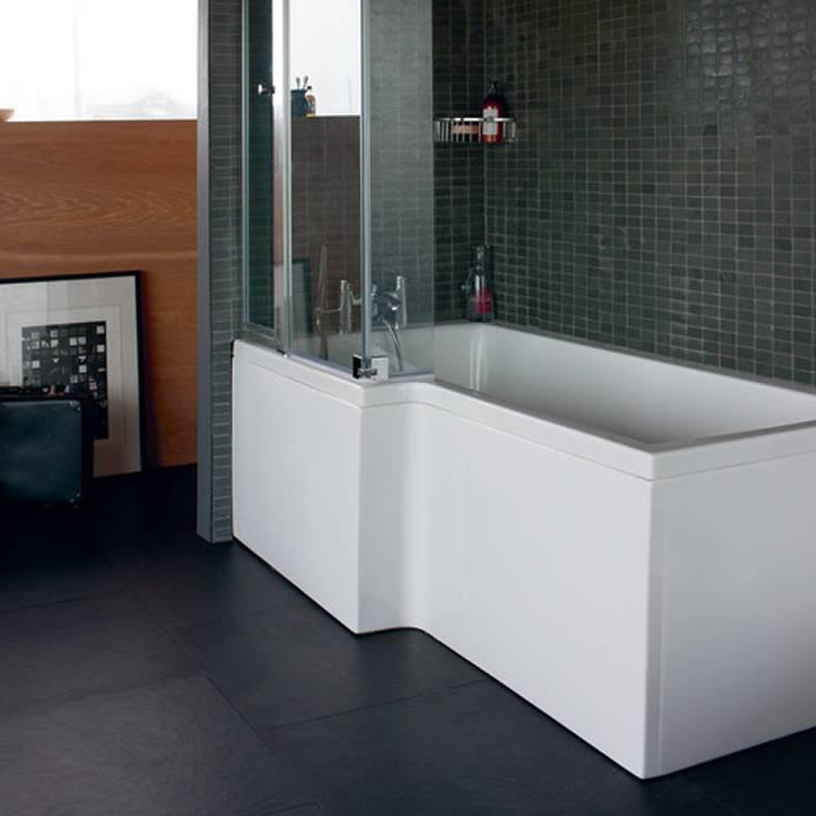 Cleargreen ecosquare 1700 x 850 shower bath sanctuary for Square baths