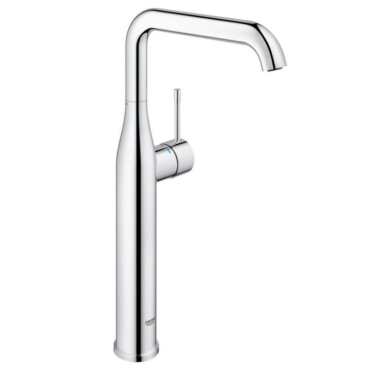 grohe essence tall basin mixer tap including pop up waste 32901001