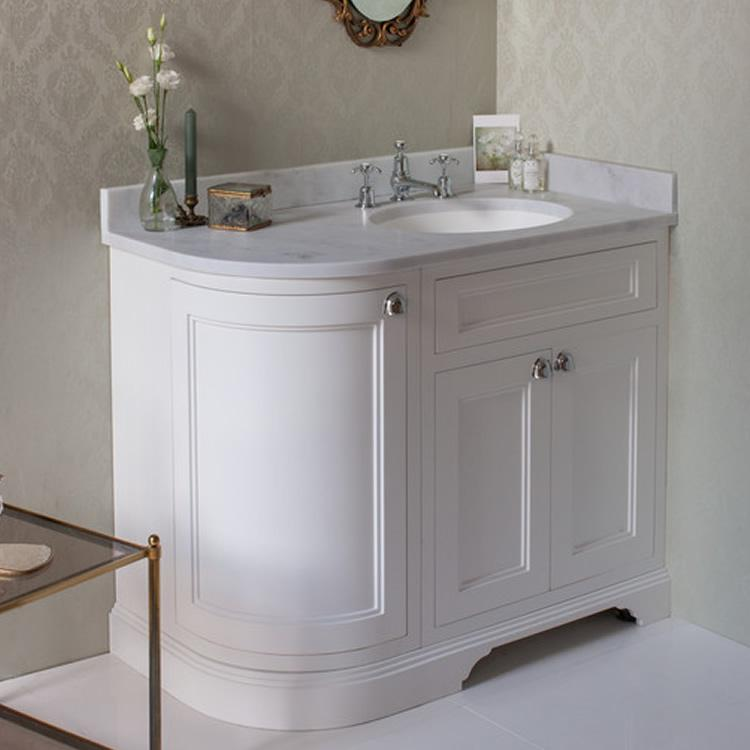 Burlington Matt White 1000mm Curved Freestanding Vanity