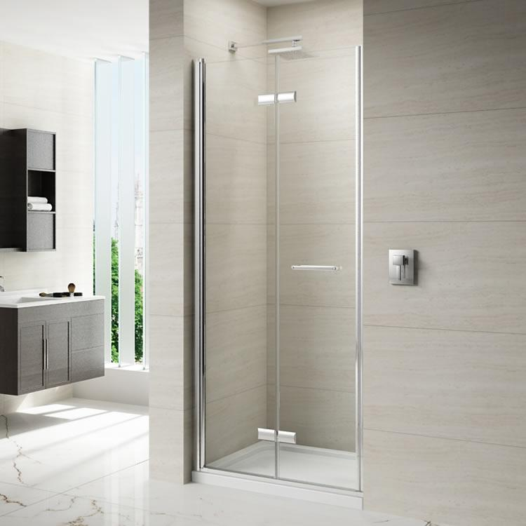 Merlyn 8 Series Frameless Hinged Bifold Shower Door ...