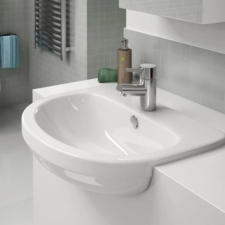 Pura Ivo 550mm Semi Recessed Basin Semi Recessed Basin
