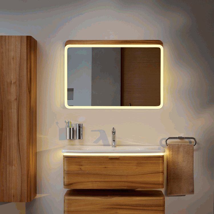 designer bathroom mirrors with lights vitra designer nest 800mm led bathroom mirror sanctuary 23074
