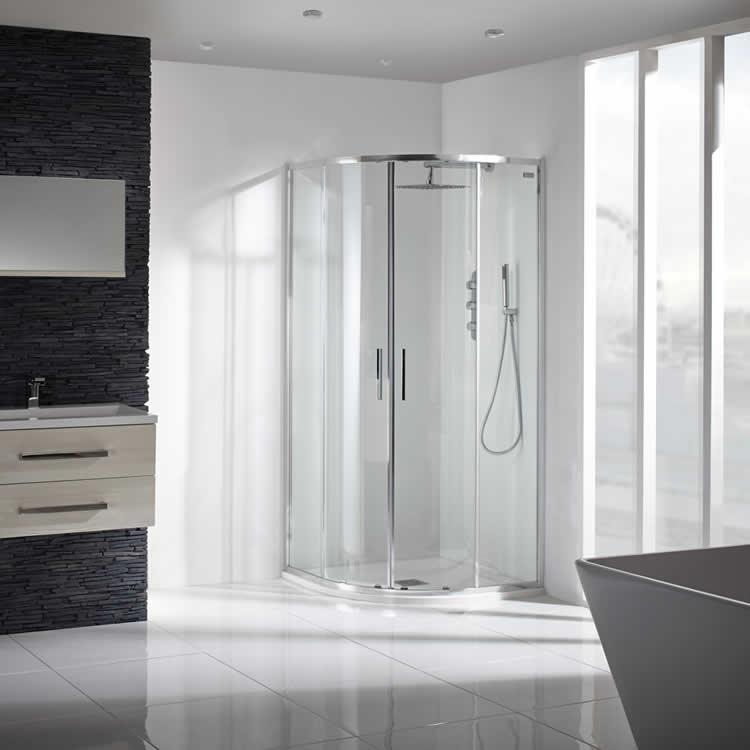 Lovely Best Quadrant Shower Enclosure Part - 11: Aquaglass 8mm Sleek Quadrant Shower Enclosure