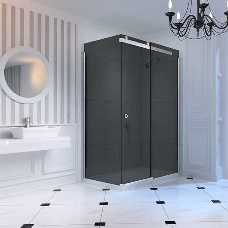 Merlyn 10 Series Sliding Shower Door Smoked Glass Sanctuary