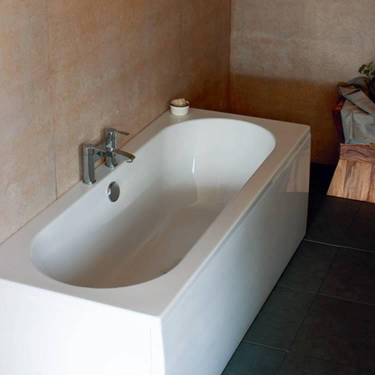 Britton Bathrooms Verde 1900 X 800mm Double Ended Bath