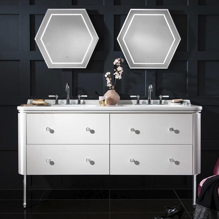 double vanity units for bathrooms. Bauhaus Waldorf 1500mm White Gloss Four Drawer Vanity Unit and Double Basin Units  Bathroom Sanctuary Bathrooms