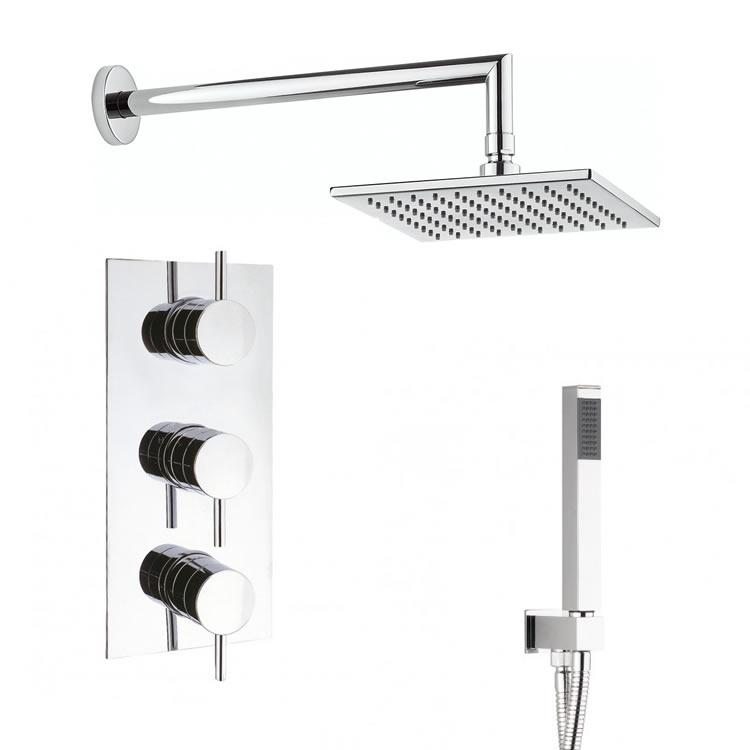 Crosswater Kai Lever Triple Shower Valve With Square Head