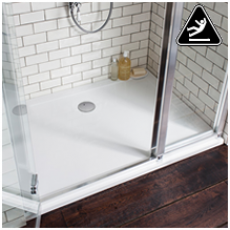 Simpsons 35mm White Anti-Slip Shower Trays