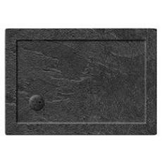Simpsons 35mm Grey Slate Effect Rectangular Shower Tray