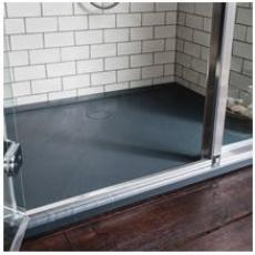 Simpsons 35mm Grey Slate Effect Shower Trays
