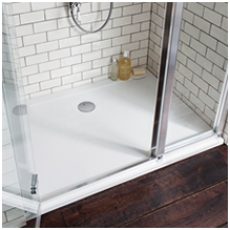 Simpsons 35mm White Shower Trays