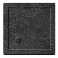 Simpsons 35mm Grey Slate Effect Square Shower Tray
