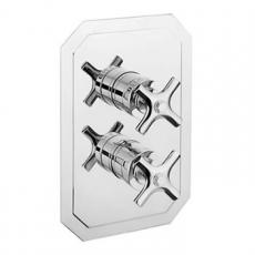 Crosswater Waldorf Chrome Crosshead Shower Valves