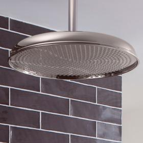Crosswater Belgravia 450mm Nickel Fixed Shower Head