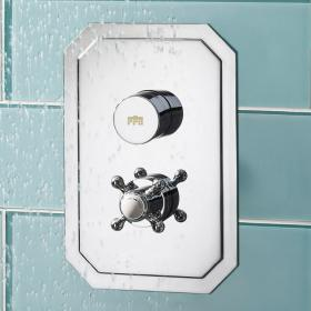 Photo of Crosswater Dial Portrait Shower Valve 1 Control with Belgravia Trim