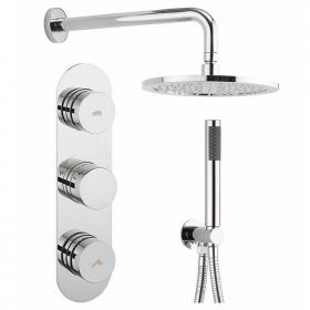 Crosswater Dial Valve 2 Control with Central Trim, Handset & Shower Head