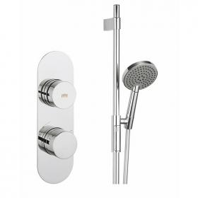 Crosswater Dial Valve 1 Control with Central Trim & Ethos Shower