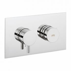 Photo of Crosswater Dial Landscape Shower Valve 1 Control with Kai Lever Trim