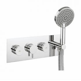 Crosswater Dial Shower Valve 2 Control with Kai Lever Trim & Ethos Head