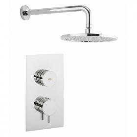 Crosswater Dial Shower Valve 1 Control with Kai Lever Trim & Head