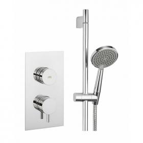 Crosswater Dial Shower Valve 1 Control with Kai Lever Trim & Ethos Shower