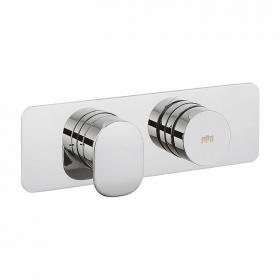 Photo of Crosswater Dial Landscape Shower Valve 1 Control with Pier Trim