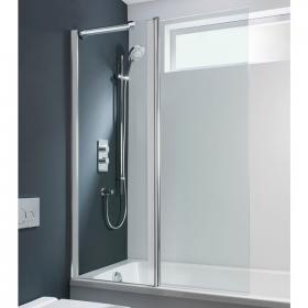 Simpsons Design Semi Frameless Double Bath Screen