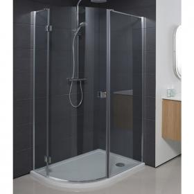 Simpsons Design Semi Frameless Offset Quadrant Shower Enclosure