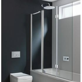Simpsons Design Semi-Frameless Triple Bath Screen