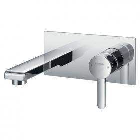 Flova Essence Wall Mounted Basin Mixer Inc Waste