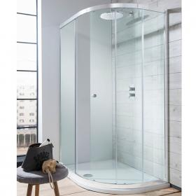 Simpsons Edge Single Door Offset Quadrant Shower Enclosure