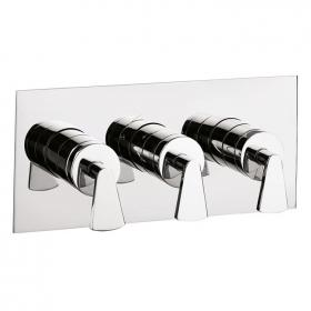 Crosswater Essence Landscape Thermostatic Shower Valve - 3 Control